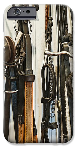 Horse Bit iPhone Cases - Stable Tac Room iPhone Case by John Greim