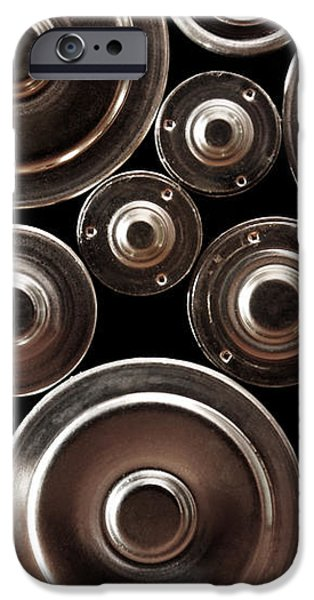 stack of batteries iPhone Case by Carlos Caetano
