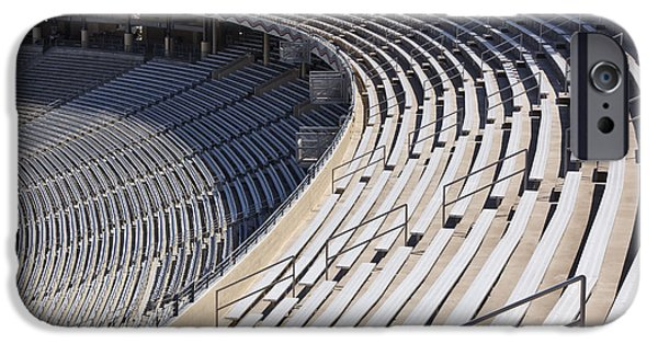Upper Deck iPhone Cases - Stadium Bleachers iPhone Case by Jeremy Woodhouse