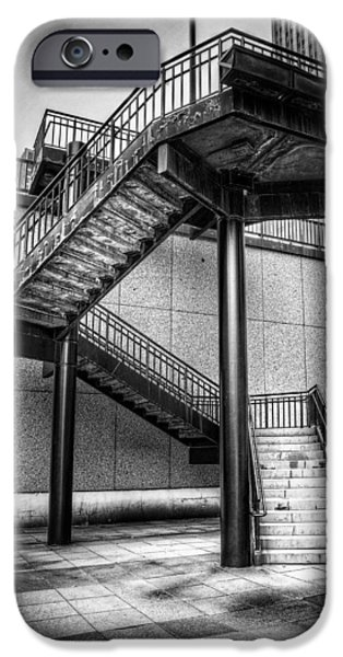 Downtown Stairs iPhone Cases - Stairs iPhone Case by Scott Norris