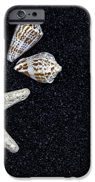 starfish on black sand iPhone Case by Joana Kruse