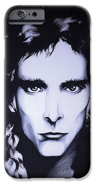 Big Hair iPhone Cases - Steve Vai iPhone Case by Curtiss Shaffer