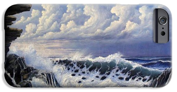 Sea Reliefs iPhone Cases - Storm Approach iPhone Case by John Cocoris
