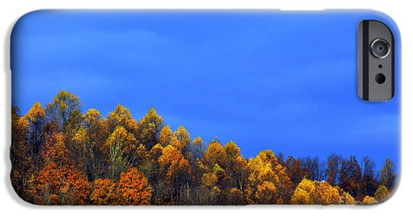 Approaching Storm iPhone Cases - Stormy Sky Last Fall Color iPhone Case by Thomas R Fletcher
