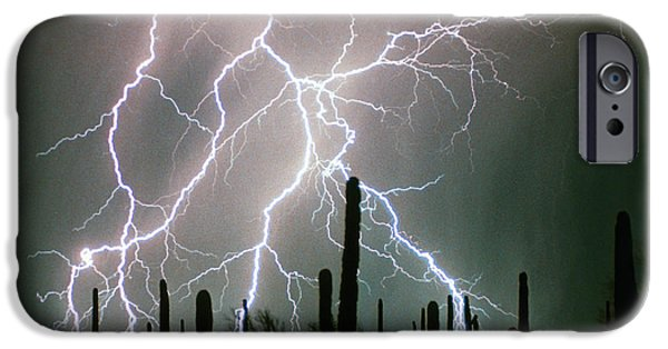 The Lightning Man iPhone Cases - Striking Photography iPhone Case by James BO  Insogna