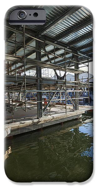 Construction Frame iPhone Cases - Structural Steel Construction Creating iPhone Case by Don Mason