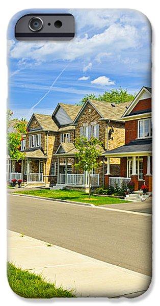 Suburban homes iPhone Case by Elena Elisseeva