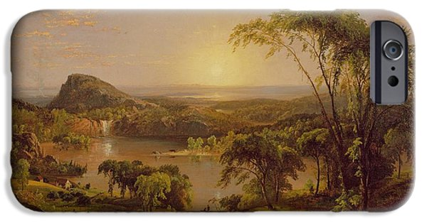 Quebec Paintings iPhone Cases - Summer Lake Ontario iPhone Case by Jasper Francis Cropsey