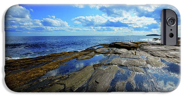 Maine Seascapes iPhone Cases - Summer Sky iPhone Case by Rick Berk