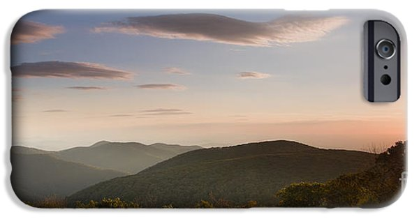 Blue Ridge Parkway iPhone Cases - Sunrise over Shenandoah National Park iPhone Case by Dustin K Ryan