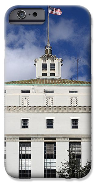 Supreme Court of California . County of Alameda . Oakland California View From Oakland Museum . 7D13 iPhone Case by Wingsdomain Art and Photography