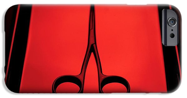 Stainless Steel iPhone Cases - Surgical Scissors iPhone Case by Tek Image