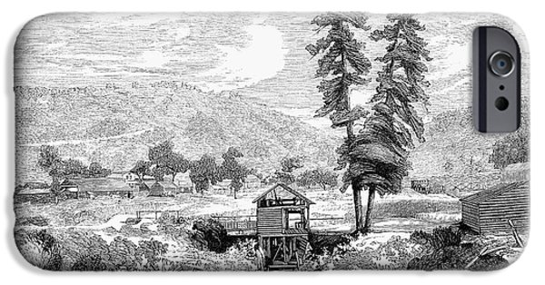 Destiny iPhone Cases - Sutters Mill, 1848 iPhone Case by Granger