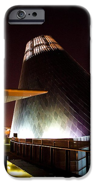 Stainless Steel iPhone Cases - Tacoma Glass Museum iPhone Case by David Patterson