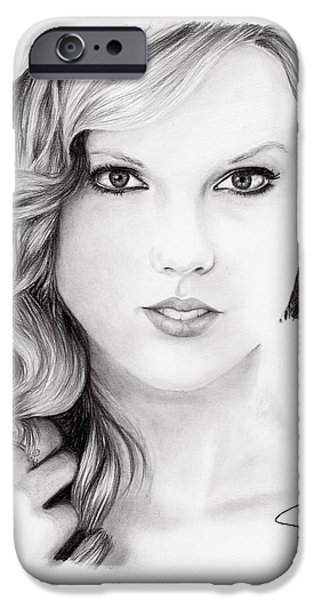Taylor Swift iPhone Cases - Taylor Swift 2 iPhone Case by Rosalinda Markle
