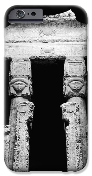 Temple Of Hathor iPhone Case by Photo Researchers, Inc.