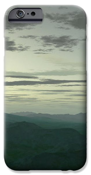 Terragen Render Of Mt. St. Helens iPhone Case by Rhys Taylor