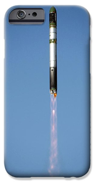 Aperture Photographs iPhone Cases - Terrasar-x Satellite Launch iPhone Case by Ria Novosti