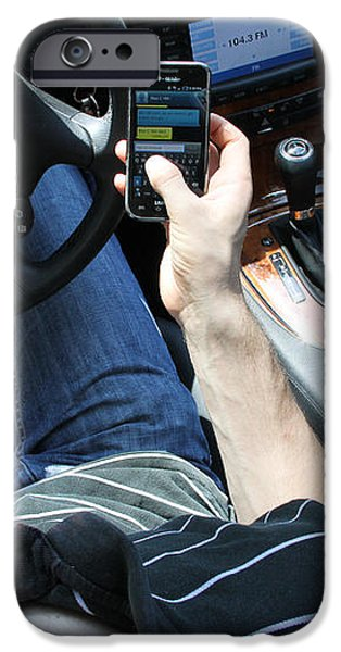 Texting And Driving iPhone Case by Photo Researchers, Inc.