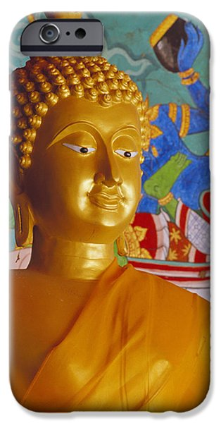 Statue Portrait iPhone Cases - Thailand, Lop Buri iPhone Case by Bill Brennan - Printscapes