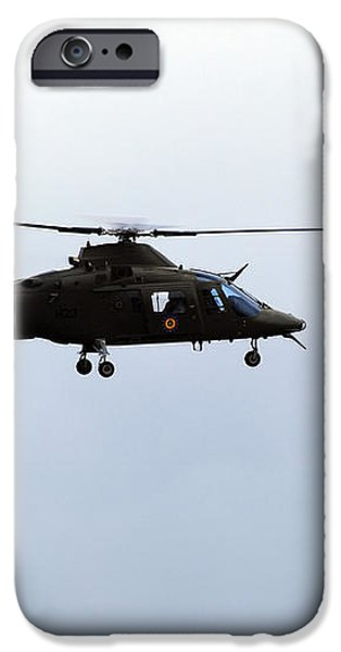 The Agusta A-109 Helicopter iPhone Case by Luc De Jaeger