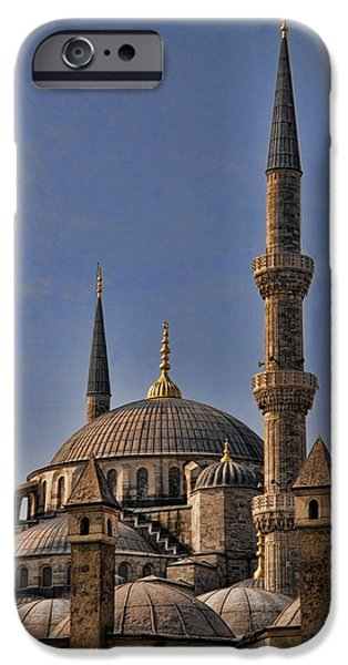 Best Sellers -  - Historic Site iPhone Cases - The Blue Mosque in Istanbul Turkey iPhone Case by David Smith