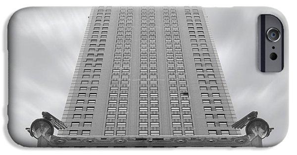 Landmark Digital iPhone Cases - The Chrysler Building 2 iPhone Case by Mike McGlothlen