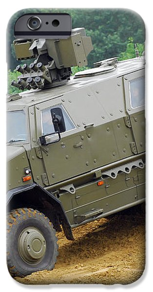 The Dingo 2 Mppv Of The Belgian Army iPhone Case by Luc De Jaeger
