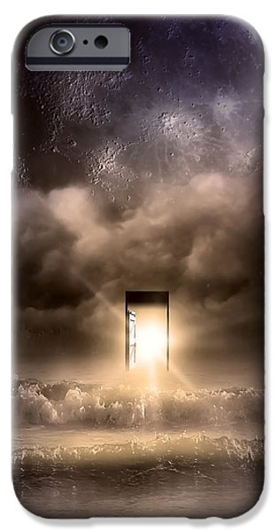 Moonscape iPhone Cases - The Door iPhone Case by Svetlana Sewell