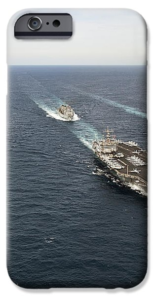 The Enterprise Carrier Strike Group iPhone Case by Stocktrek Images