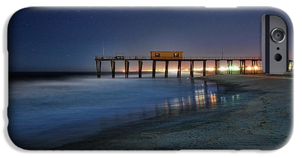 Beach At Night iPhone Cases - The Fishing Pier iPhone Case by Paul Ward