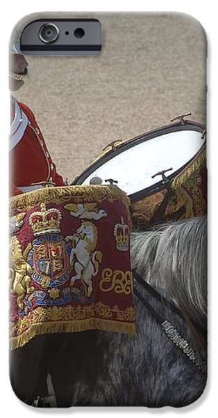 The Kettledrums Of Household Cavalry iPhone Case by Andrew Chittock