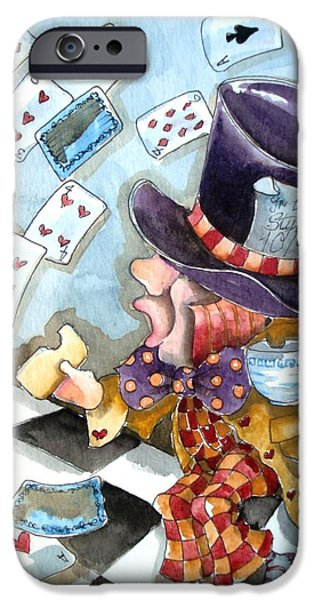 Mad Hatter iPhone Cases - The Mad Hatter iPhone Case by Lucia Stewart