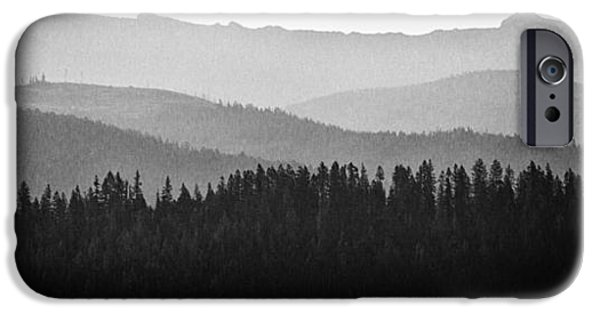 Monotone iPhone Cases - The Mountains near Priest Lake in Idaho iPhone Case by David Patterson
