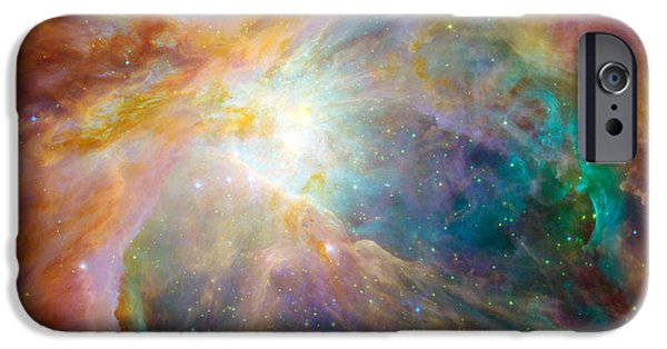 Constellations iPhone Cases - The Orion Nebula iPhone Case by Stocktrek Images