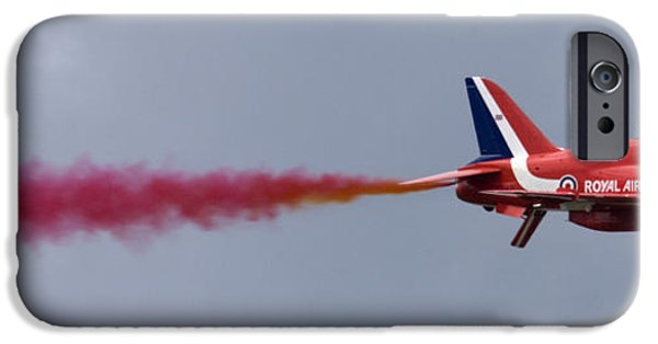 Summer iPhone Cases - The Red Arrows at Farnborough International Airshow iPhone Case by Ian Middleton