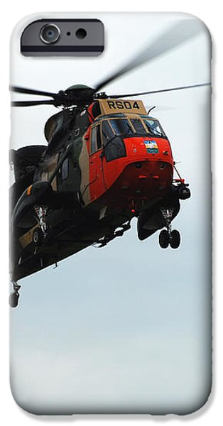The Sea King Helicopter In Use iPhone Case by Luc De Jaeger