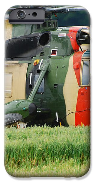 The Sea King Helicopter Of The Belgian iPhone Case by Luc De Jaeger