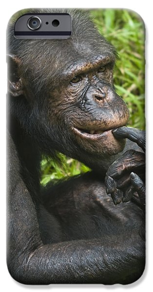 Thinking iPhone Cases - The Thinker iPhone Case by Zoe Ferrie
