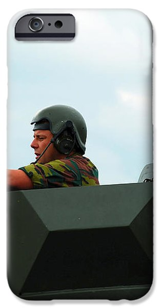 The Turret Of A Pandur Wheeled Armoured iPhone Case by Luc De Jaeger