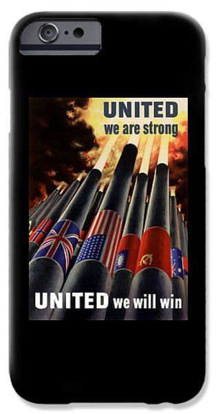 Flag iPhone Cases - The United Nations Fight For Freedom iPhone Case by War Is Hell Store