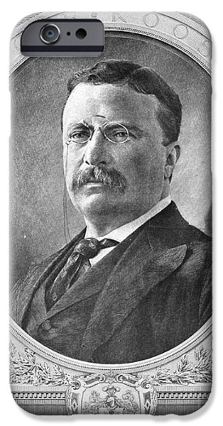 President iPhone Cases - Theodore Roosevelt, 26th American iPhone Case by Photo Researchers