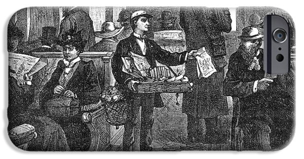 1850s iPhone Cases - Thomas Alva Edison iPhone Case by Granger