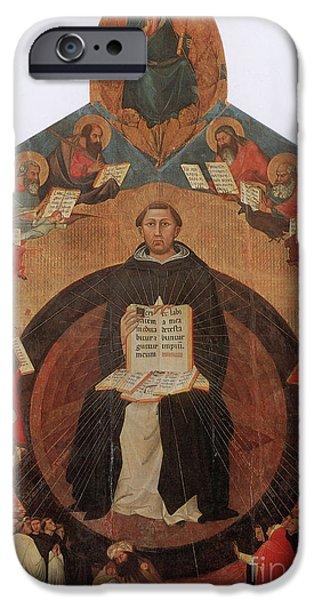 Metaphysics iPhone Cases - Thomas Aquinas, Italian Philosopher iPhone Case by Photo Researchers