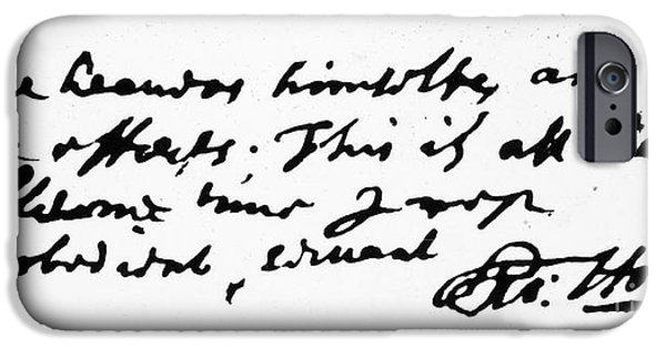 Autographed iPhone Cases - Thomas Hobbes (1588-1679) iPhone Case by Granger