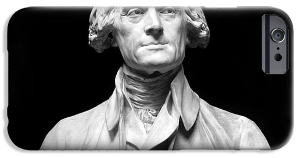 Statue Portrait iPhone Cases - Thomas Jefferson (1743-1826) iPhone Case by Granger