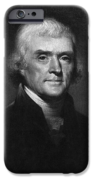 Thomas Jefferson, 3rd American President iPhone Case by Omikron