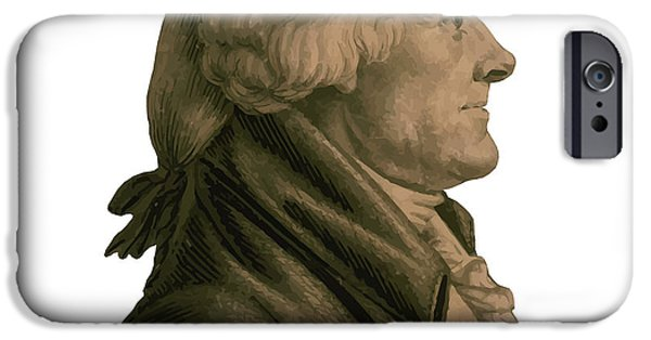 Declaration Of Independence Digital Art iPhone Cases - Thomas Jefferson iPhone Case by War Is Hell Store