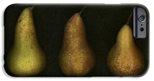 Three Sizes iPhone Cases - Three Golden Pears iPhone Case by Deddeda
