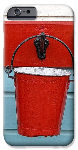 Three Red Buckets iPhone Case by John Short